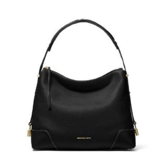 Michael Kors Handbags - Michael Kors Black Large Crosby Pebbled Bag